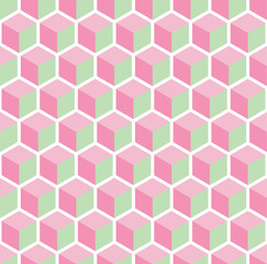 A seamless cube style pattern illustration