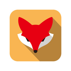Fox face character icon design