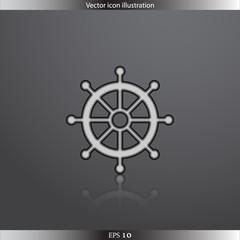 Vector rudder web flat icon