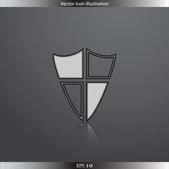 Vector shield web flat icon
