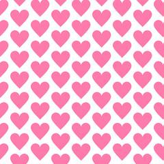 Heart seamless pattern polka dot