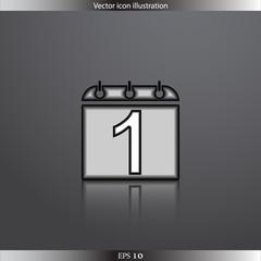 Vector calendar web flat icon