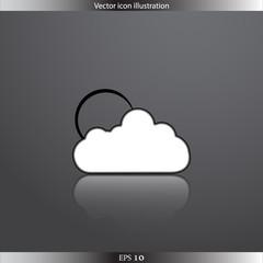 Vector weather web flat icon