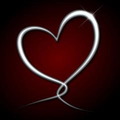 Heartloop chrome / red #2