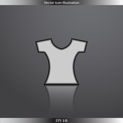 Vector clothes for women web flat icon