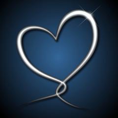 Heartloop chrome / blue