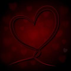 Deep Love Heartloop red #5