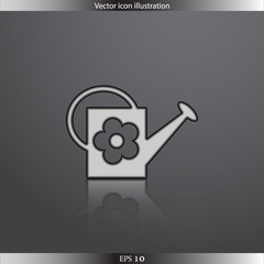 Vector watering can web flat icon