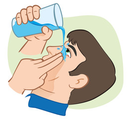 First Aid flush eyes with water.