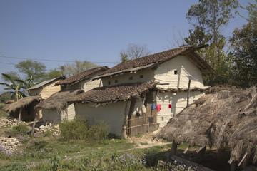 Traditional tharu house in Bardia, Nepal