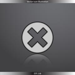 Vector close web flat icon