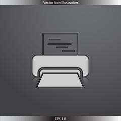 Vector printer web icon