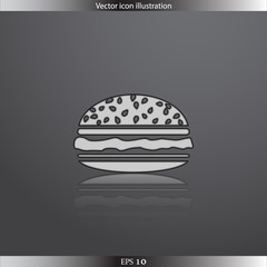 Vector hamburger web icon