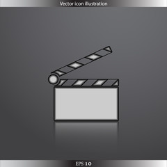 Vector clapperboard web icon
