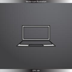 Vector laptop web icon