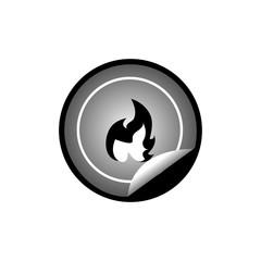 fire sticker badge
