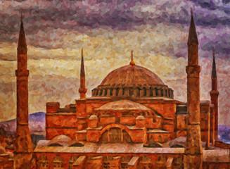 Hagia Sophia Digital Painting