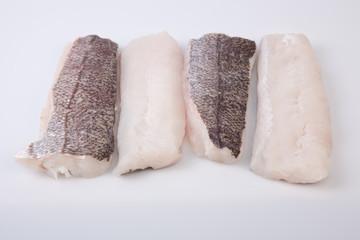Boneless hake steaks