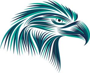 Colored emblem of an eagle
