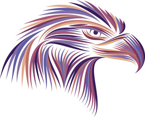 Colored emblem of an eagle