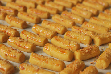 Bunch of Cheese Stick Cookies