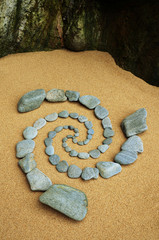 Esoterischer Wirbel in Felsenlandschaft
