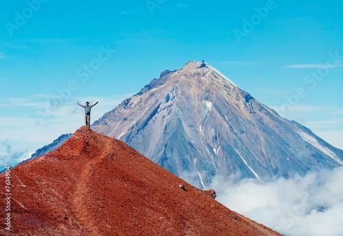 Koryaksky volcano on Kamchatka Peninsula, Russia. - 76149041