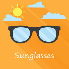 sunglasses . summer background