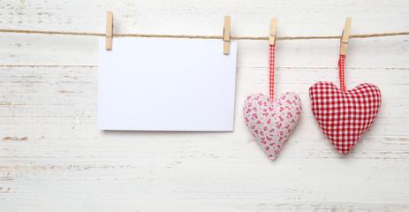 2 Herzen zum Valentinstag
