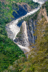 valley river Baliem at  New Guinea