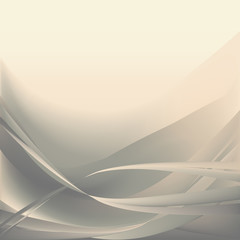 Beige and gray light waves abstract background easy