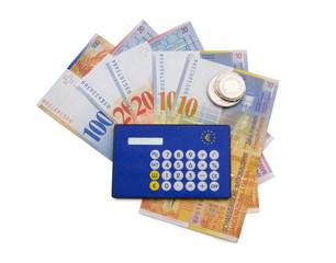 Schweizer Franken mit Währungsrechner