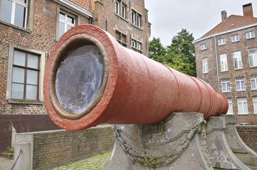 Medieval supergun located in Ghent, Belgium