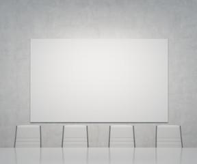 blank placard on wall