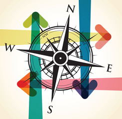 compass and arrow background