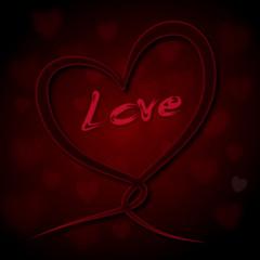 Forever Love Heartloop red #6