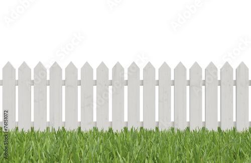 white fence - 76151072