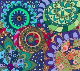 Абстрактный цветочный орнамент Часть 4