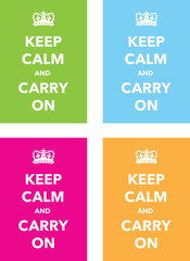 kep calm and carry on set