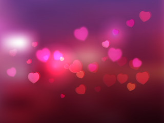 heart and bokeh vector abstract background