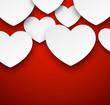 Paper white hearts.