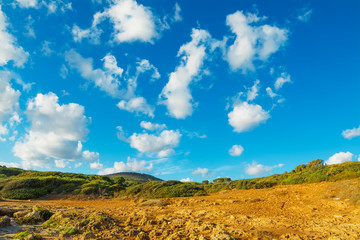 cloudy sky over Le Bombarde coastline