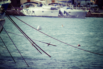 ropes in the water