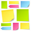 Collection Color Stick Notes Mix Color
