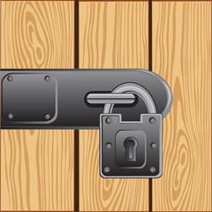 Outboard lock on door