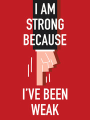 Words I AM STRONG