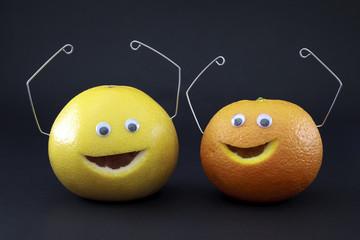 Pamplemousse et orange