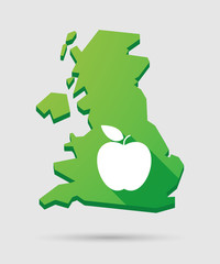 United Kingdom map icon with a fruit