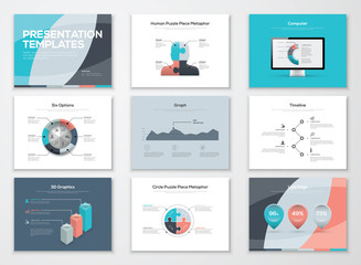 Business presentation templates and infographic vector elements