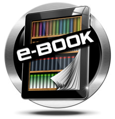 E-Book Symbol with Tablet Computer